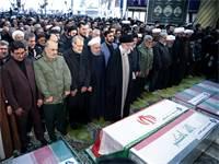 בכירי השלטון באיראן בהלוויית קאסם סולימאני / צילום: רויטרס