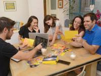 משחקים באתגר הצהוב, של חברת קווסטאייר קואלה / צילום: איל יצהר