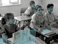 """שיעור גאוגרפיה / צילום: משה מילנר - לע""""מ. איור: גיל ג'יבלי"""