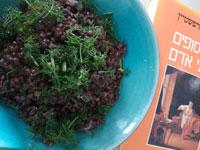 סלט עדשים שחורות / צילום: חיליק גורפינקל