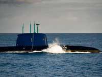 צוללת חיל הים מסדרת דולפין / צילום: דובר צהל