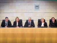 שופטי בית הדין הארצי לעבודה./  צילום: שלומי יוסף