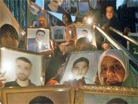 הפגנת קרובי משפחה של אסירים פלסטינים / צלם רויטרס
