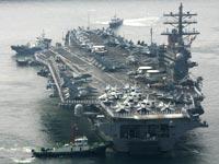 נושאת מטוסים רונאלד ריגן אניה מלחמה ארצות הברית/ צלם: רויטרס
