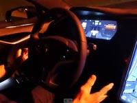 טסלה, מערכת נסיעה אוטונומית, דגם D / צילום: וידאו