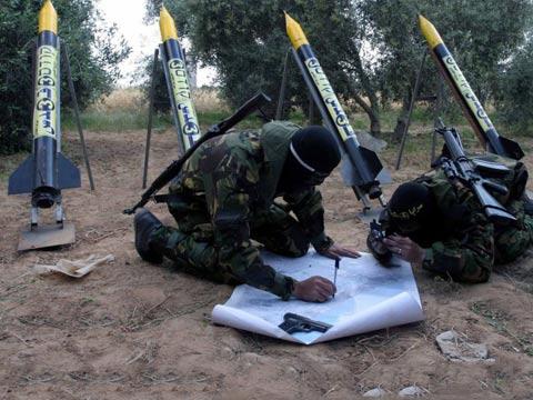 משגרי רקטות הג'יהאד האיסלאמי עזה צוק איתן / צילום: וידאו