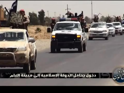 """כוח דאע""""ש עיראק/ צילום: מהוידאו"""