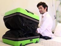 "מזוודה חכמה מתנפחת קיקסטארטר Fugu Luggage / צילום: יח""צ"