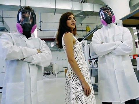 """שמלה במדפסת תלת ממד Nervous System / צילום: יח""""צ"""