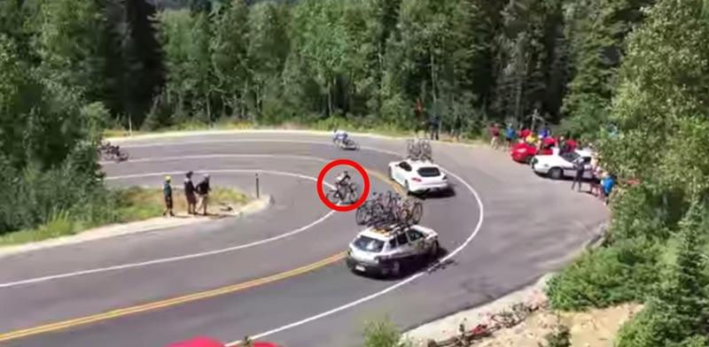 תאונת רוכב אופניים/ צילום: מהוידאו