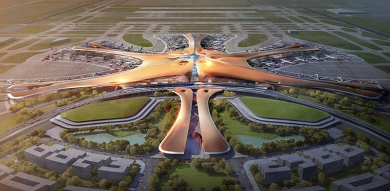 """שדה התעופה הגדול בעולם, בייג'ין, סין, זהה חדיד אדריכלות / צילום: יח""""צ"""