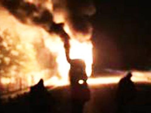 אוטובוס נשרף, חופשת סקי בבולגריה, פנגווין / צילום: וידאו