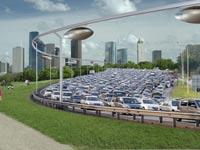 """רכבל אווירי בהרצליה, Skytran, נאס""""א, תחבורה ציבורית / צילום: יח""""צ"""