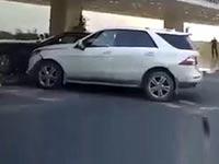 צעיר ריסק מרצדס ברולס רוייס, קטאר, תאונת דרכים, ויראלי / צילום: וידאו
