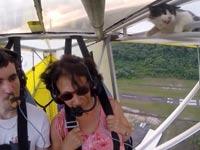 חתולה בטיסה, דאון, יו טיוב, ויראלי / צילום: וידאו