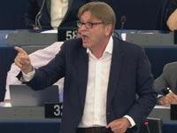 האיש שהעמיד את אלכסיס ציפראס על מקומו, משבר ביוון הפרלמנט האירופי, Guy Verhofstadt / צילום: וידאו