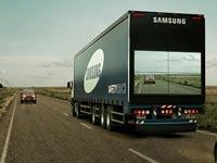 """סמסונג, משאית בטיחות, בטיחות בדרכים / צילום: יח""""צ סמסונג"""