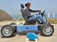 רכב, אקומושיין, מכונית עם גלגלים מתרחבים /  צילום: יחצ