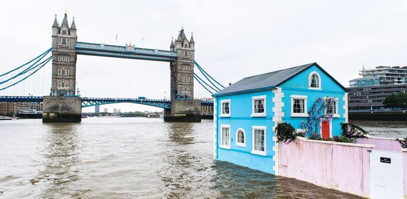 """בית צף, לונדון, AirBNB / צילום: יח""""צ"""