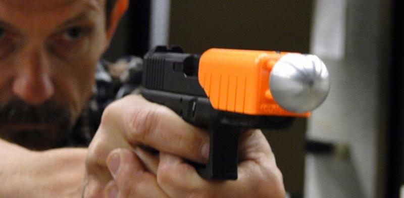 כרית אוויר לכדורי אקדח, התקן שמפחית את עוצמת הפגיעה, ירי / צילום:  Alternative Ballistics