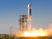 טיל לחלל ג'ף בזוס / צילום: מהוידאו