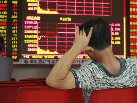 בורסה, סין, ירידות חדות, מפולת הבורסה/צילום: רויטרס