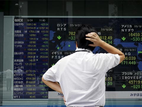 בורסה סין, ירידות חדות, מפולת בבורסה/ צילום רויטרס