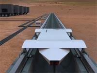 מערכת תחבורה עילית סופר מהירה, אלון מאסק, Hyperloop Technologies / צילום: וידאו