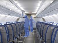 """כסא מתקפל למטוס נוסעים Side-Slip Seat / צילום: יח""""צ"""