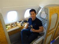תיירות טיסה במחלקה ראשונה/ צילום: מתוך הוידאו