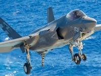 לוקהיד מרטין F-35C DT-II  מטוס קרב טיסת ניסוי / צילום: וידאו