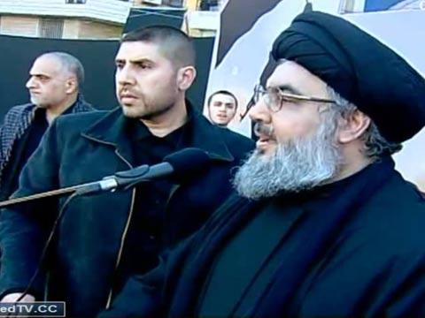 """חסן נסראללה, מזכ""""ל חיזבאללה, שומרי ראש, ארגון טרור, לבנון / צילום: וידאו"""