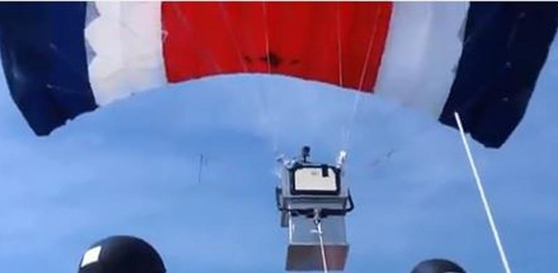 מצנח רחפן לתצפית בים/ צילום: מתוך הוידאו