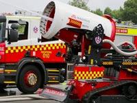 """רובוט מכבה אש, אוסטרליה  TAF 20 / צילום: יח""""צ"""