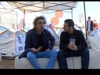 שי ופוייר במחאת האוהלים 2015/ צילום: גלובס טיוי