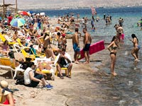 חוף ים, שרב, קיץ / צילום: שלומי יוסף