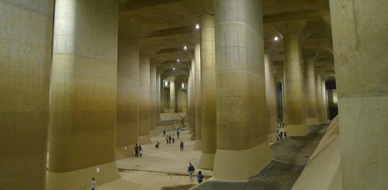 מערכת הגנה תת קרקעית מפני שיטפונות טוקיו / צילום: וידאו