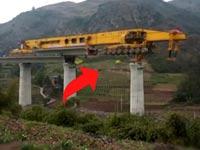 בניית גשרים בסין, הנדסה, טכנולוגיה, מכונה לבניית גשרים / צילום: וידאו