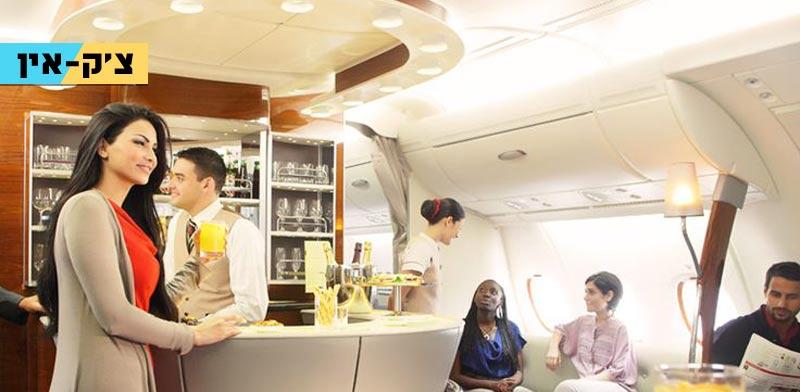 """צ'ק אין, מחלקת עסקים, הטיסה הארוכה ביותר בעולם, דובאי-פנמה סיטי, Emirates  / צילום: יח""""צ"""