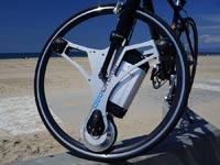 גלגל שהופך אופניים לחשמליים / צילום: מהוידאו
