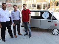 אבטיפוס למכונית סולארית עזה סטודנטים אוניברסיטת אל-אזהאר / צילום: inhabitat
