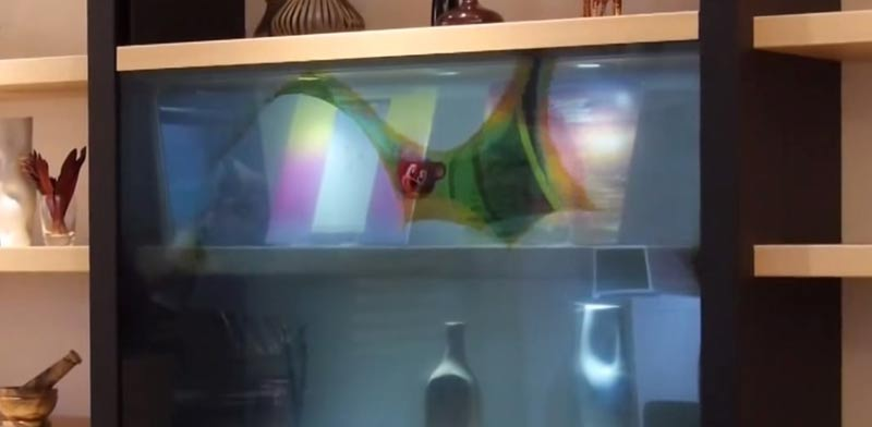 מסך טלוויזיה שקוף, פנסוניק, מסך מגע, תערוכת CES / צילום: וידאו