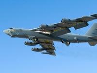 """מטוס מפציץ מדגם B-52 סטרטופורטרס, מטוס גרעיני, צבא ארה""""ב / צילום: וידאו"""