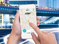 """אפליקציית מוניות ישראלית חדשה Rider סמארטפון / צילום: יח""""צ"""