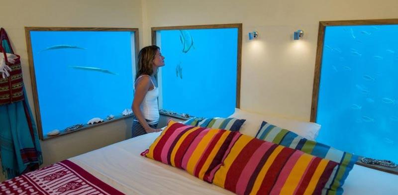 """סוויטה מתחת למים, זנזיבר, The underwater room Manta resort / צילום: יח""""צ"""