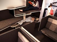 """מחלקות הנוסעים של העתיד, לגו, איירבוס Transpose / צילום: יח""""צ"""