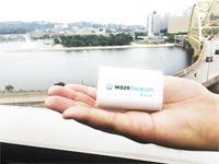 """חיישני וויז לניווט בשטחים סגורים אפליקציית וויז Waze Beacon / צילום: יח""""צ"""
