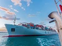 """אניית הענק COSCO  OCEANIA  , נמל אשדוד / צילום: יח""""צ"""