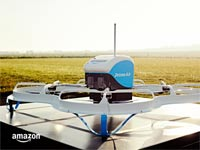 """רחפן משלוחים אמזון Prime Air, ג'ף בזוס / צילום: יח""""צ"""