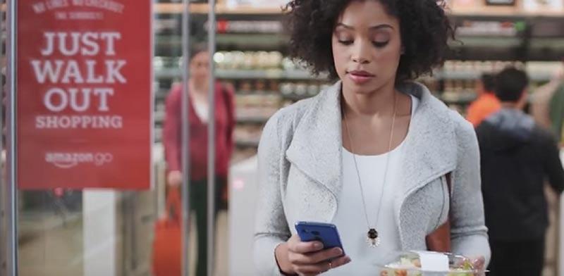 מכולת ללא קופאיות, אמזון, Amazon Go , סמארטפון, אפליקציה, תשלומים / צילום: וידאו